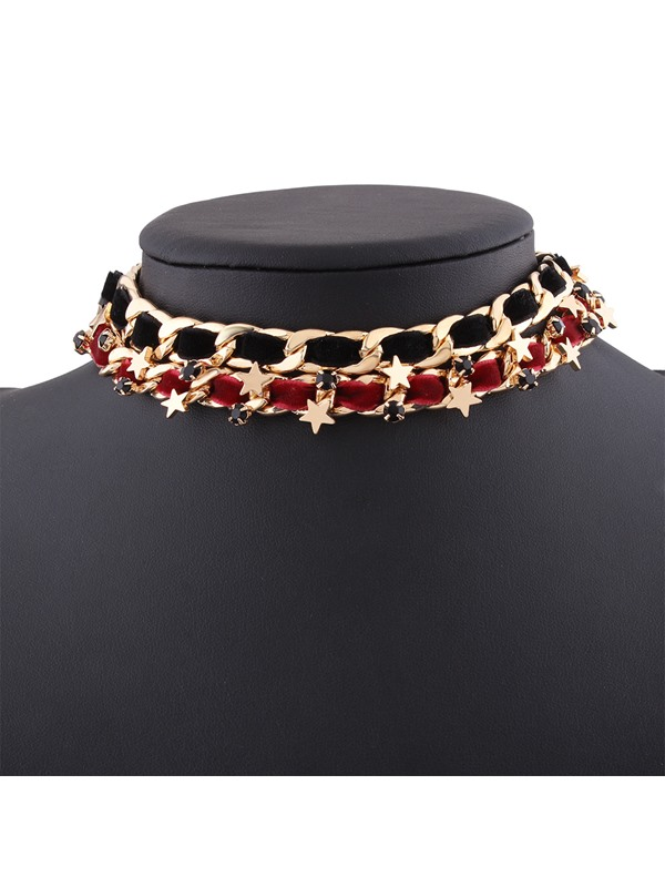 European Style All-Matched Stars Woven Choker Necklace