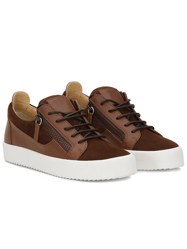 PU Plain Lace-Up High Quality Men's Sneakers
