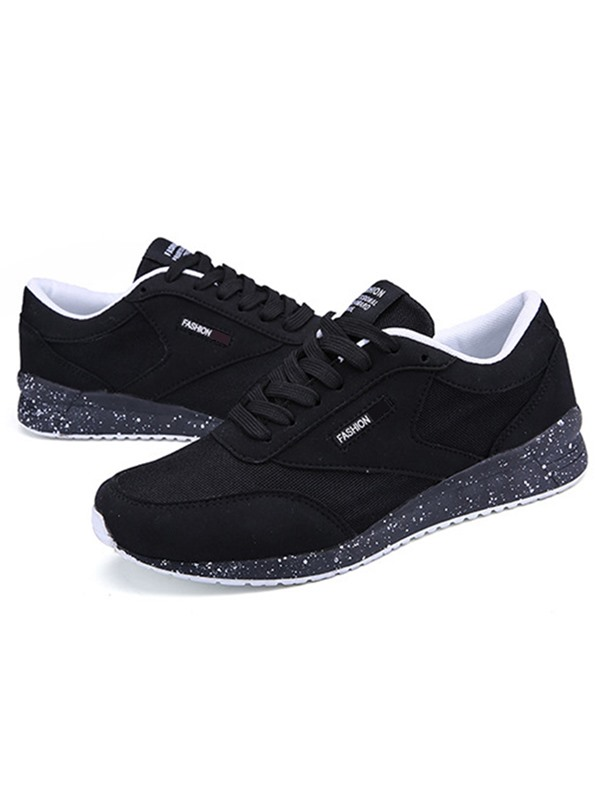 Mesh Color Block Lace-Up Cheap Sneakers for Men
