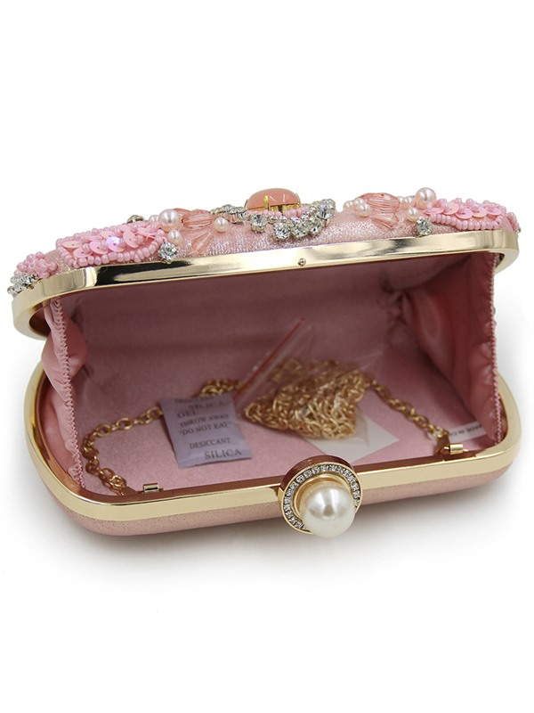Occident Style Pearl Diamond Evening Clutch