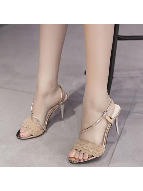 PU Slip-On Shining Simple Women's Sandals