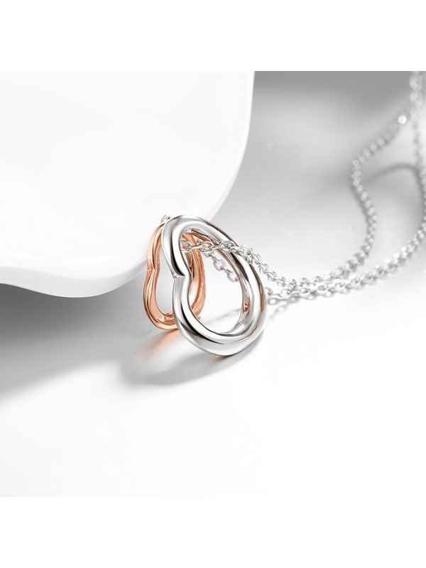 Romantic Hollow Sweet Heart-Shaped Pendant Necklace