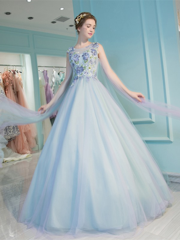 Charming Ball Gown Sleeveless Embroidery Scoop Quinceanera Dress
