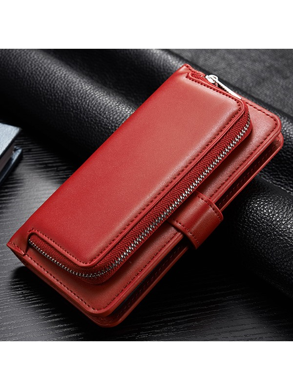 Samsung S 8 Zipper Purse Phone Case Multi-Function Holster