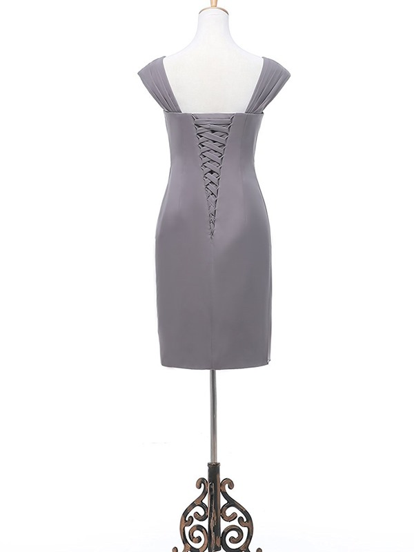 Beading Column Plus Size Mother of the Bride Dress