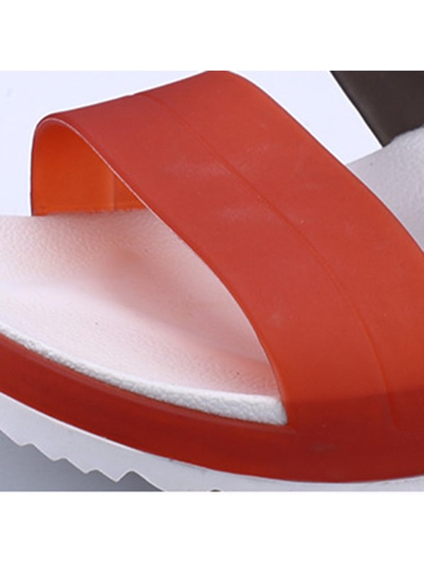 PVC Color Block Men's Chic Sandals