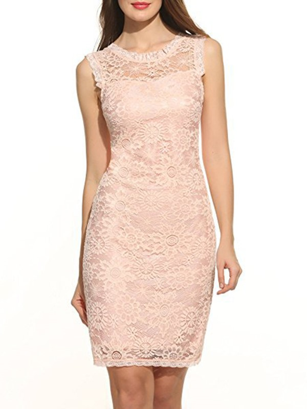 Multi-colored Sleeveless Women's Lace Dress