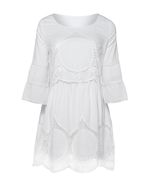 Casual 3/4 Sleeves Round Neck Women's Dress