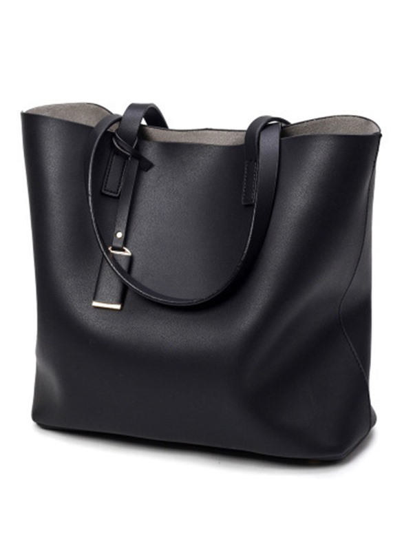 Casual Solid Color Women Tote Bag
