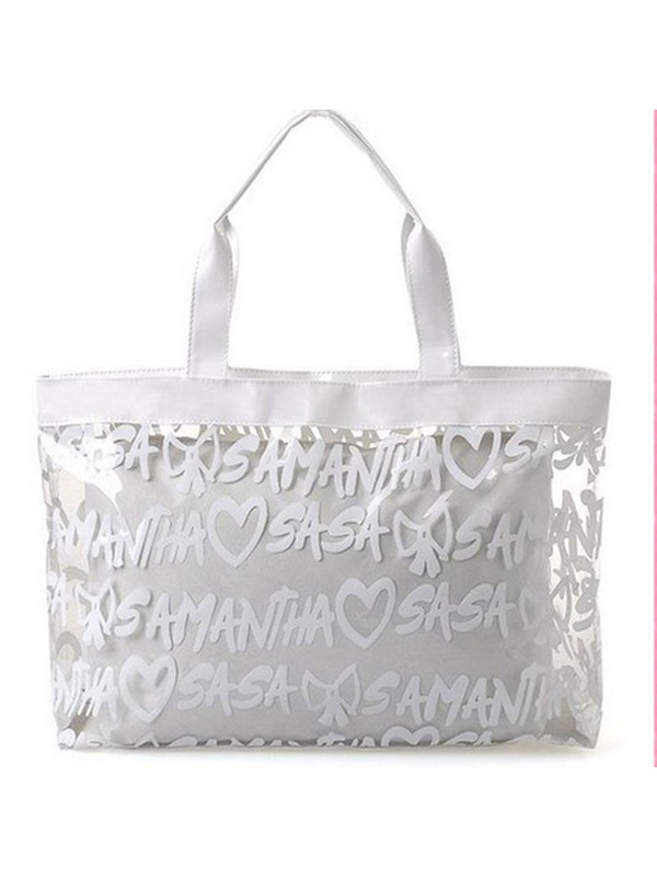 Fashion Letter Design Plastic Tote Bag