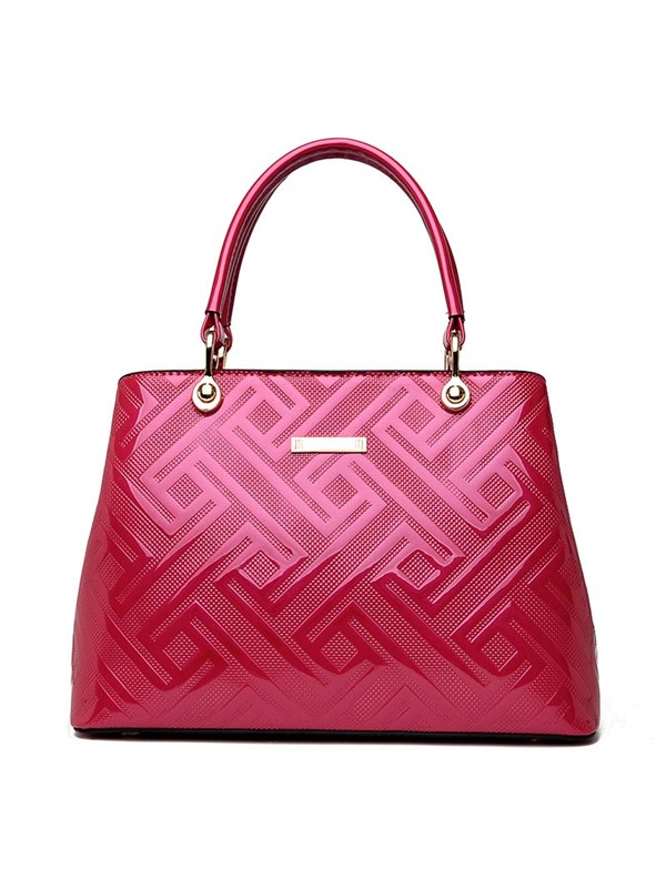 Stylish Bright Surface Embossing Satchel