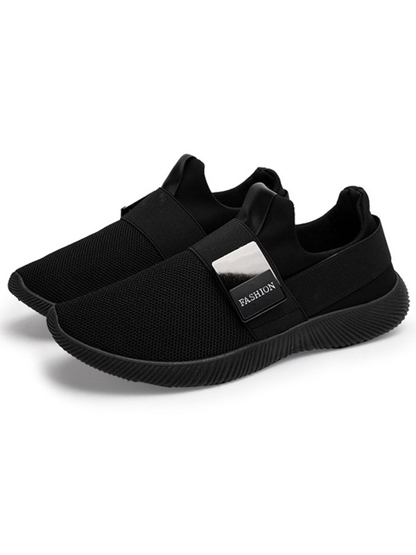 Mesh Patchwork Slip-On Round Toe Sneakers