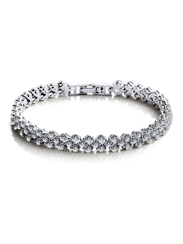 Twinkling Full Drill Stone Alloy Chain Korean Bracelets & Bangles