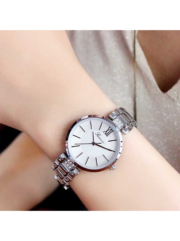 Analogue Quartz Round Alloy Exquisite Women Watches