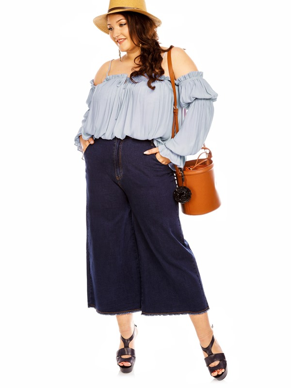 Plus Size High-Waist Ankle Length Women's Jeans