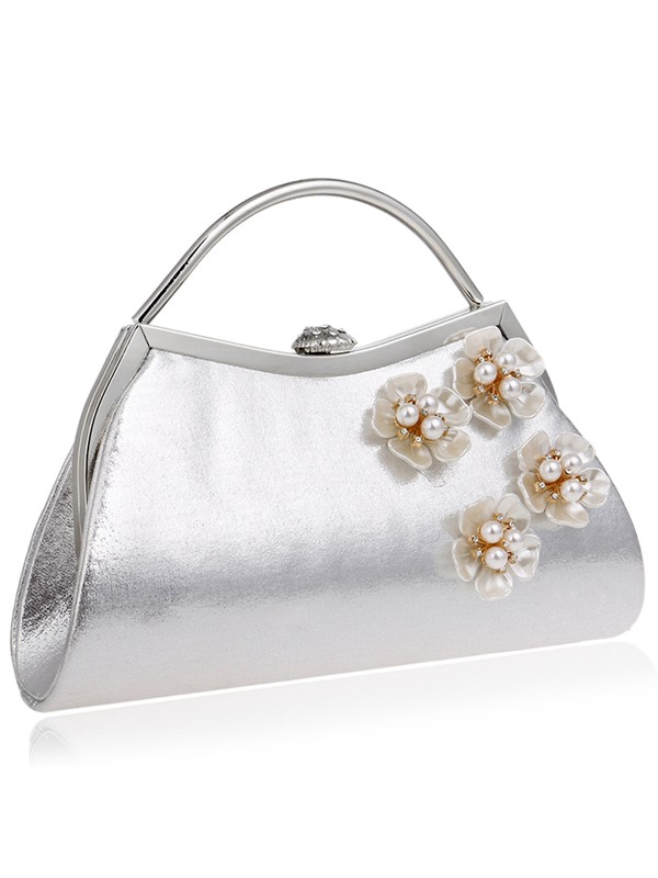 Graceful Flower Beads Adornment Evening Clutch