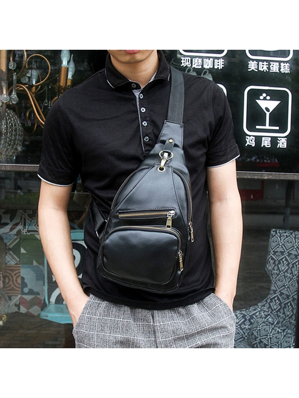 Retro Zipper Men's Chest Pack