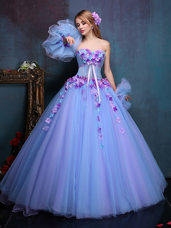 Unique Appliques Sashes Crystal Sweetheart Ball Gown Quinceanera Dress