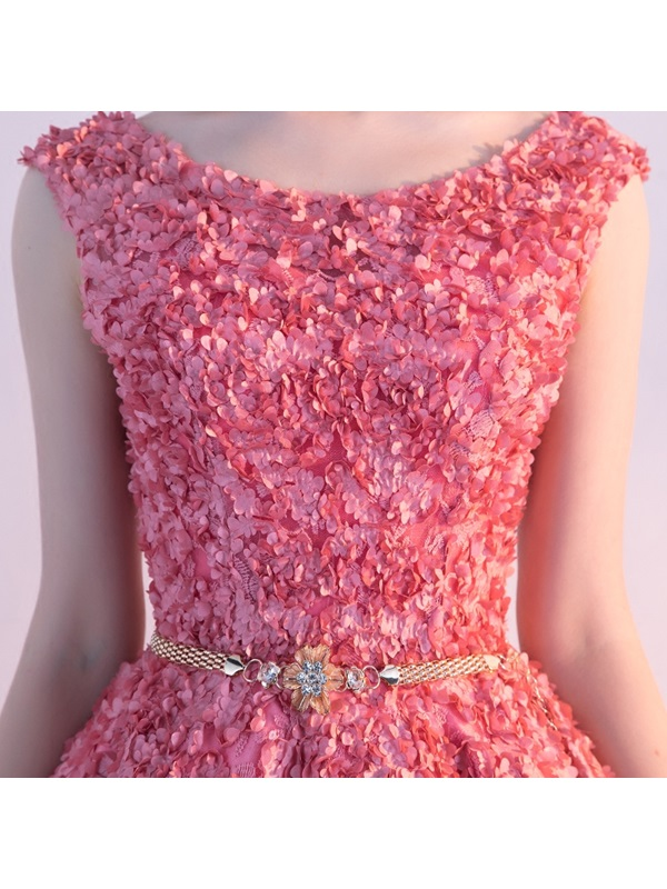 Charming A-Line Sashes Cap Sleeves Crystal Knee-Length Homecoming Dress