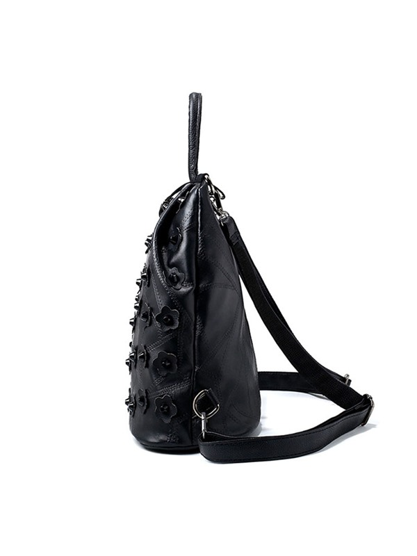 Personality Floral Rivets Decoration Women's Backpack