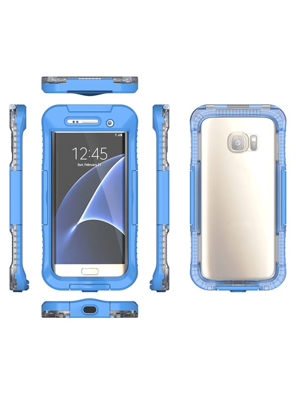 Transparent Waterproof Support Touch Screen Function Case for Samsung Galaxy S7 Edge