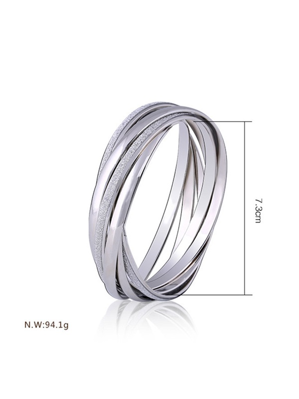 Ring Shaped Multilayer Alloy European Simple Bracelet