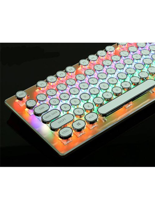 USB Wired Gaming Keyboard,Steampunk Keycaps Mechanical Keyboard Support Backlight