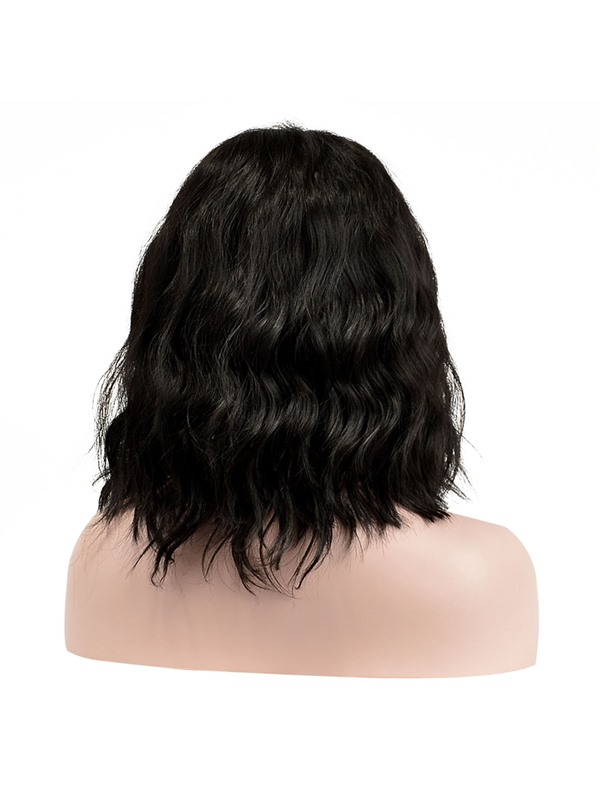 African American Slight Wave Synthetic Capless Center Parting Hairstyle Wigs 12 Inches(Free Shipping)