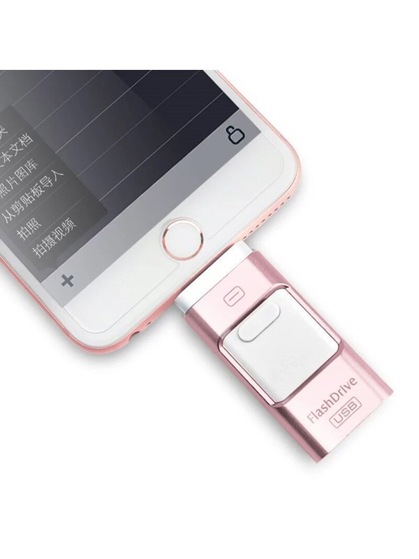 New Stainless USB 2.0 Flash Drive for iPhone and iPad