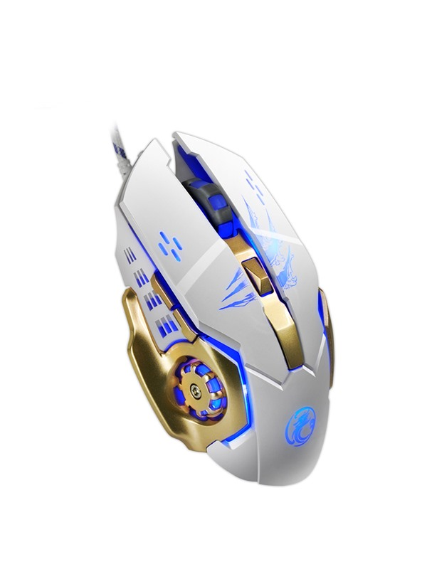 APEDRA A8 Wired Mouse 2.4GHz 3200 Dpi 5 Adjustment Levels with 6 Buttons & LED Light Games Mice