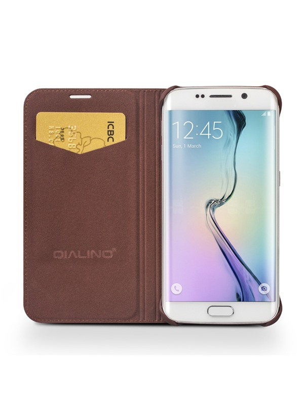Samsung S6 Edge Case Luxury Leather Cellphone Case Cover Full Body Protection Case for Samsung S6 Edge(Free Shipping)