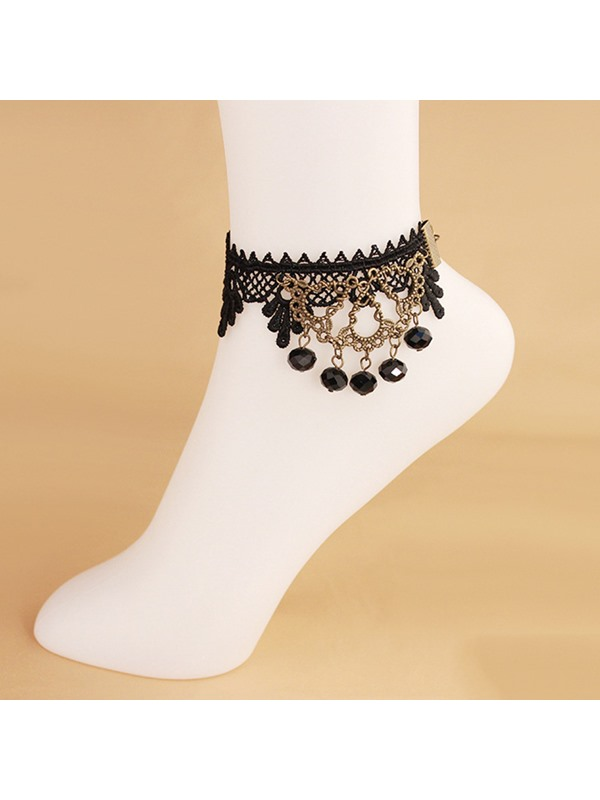Beads Hollow-Out Lace Anklets