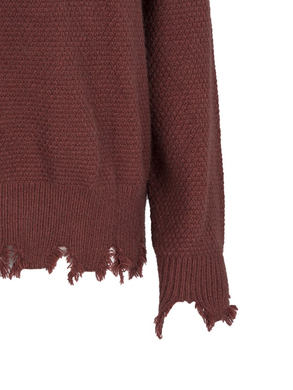 Hollow Beading Decorative Pullover Women's Knitwear