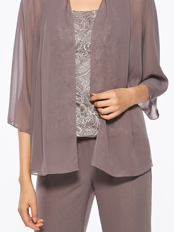 Lace Mother of the Bride Pantsuits with Jacket