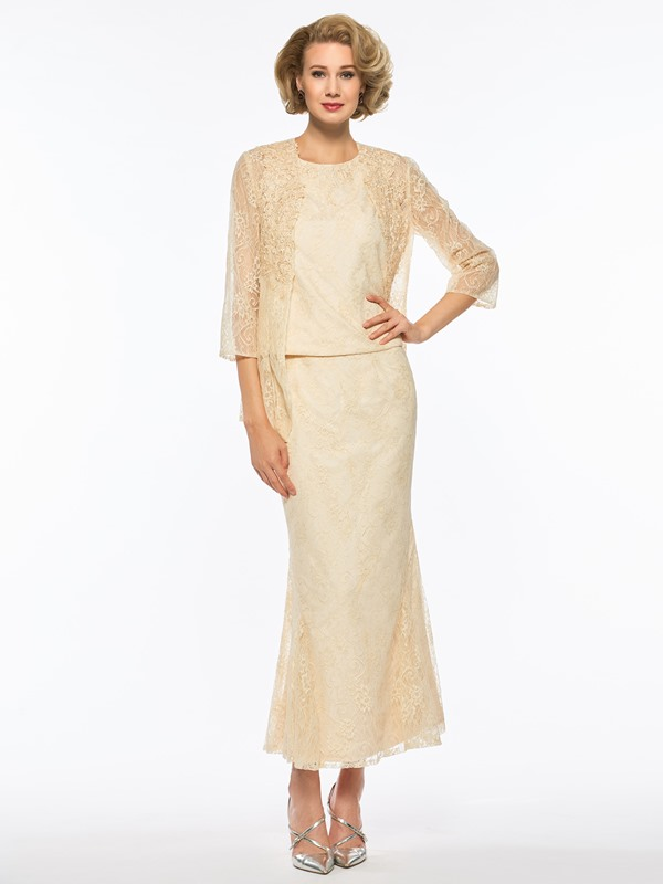 Sheath Ankle-Length Lace Mother Dress with Jacket