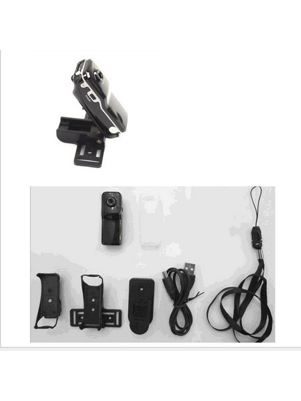 MD80 Mini Action Camera Support TF-card