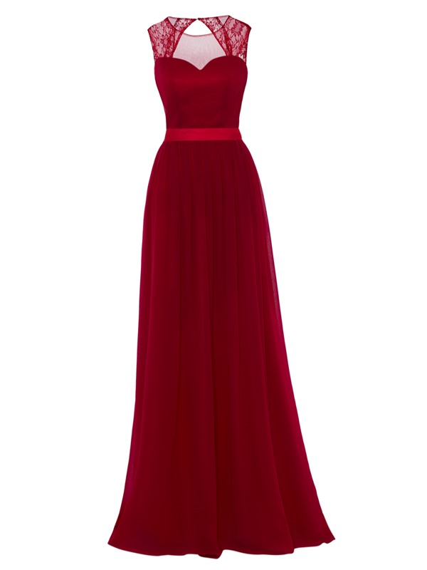 Scoop Neck Backless A-Line Evening Dress