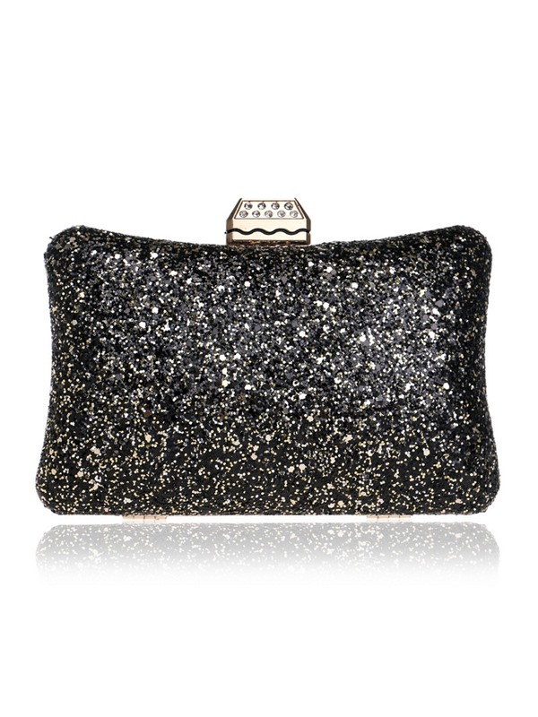 Pillow Shape Sequins Women Evening Clutch
