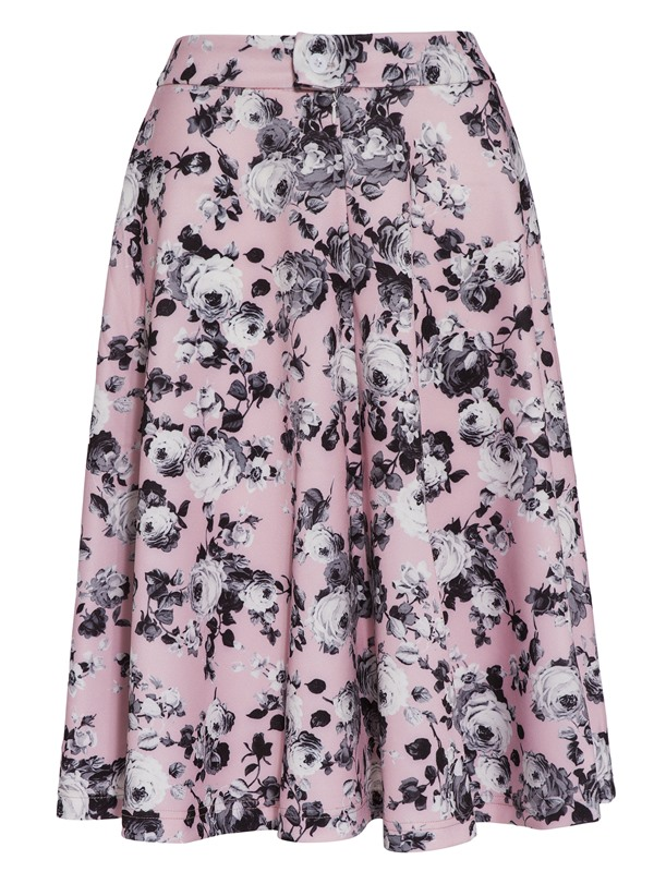 Floral Print Knee-Length Women's Skirt