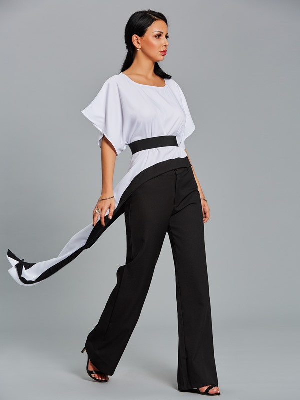 Wide Legs and T-Shirt Women's Suit