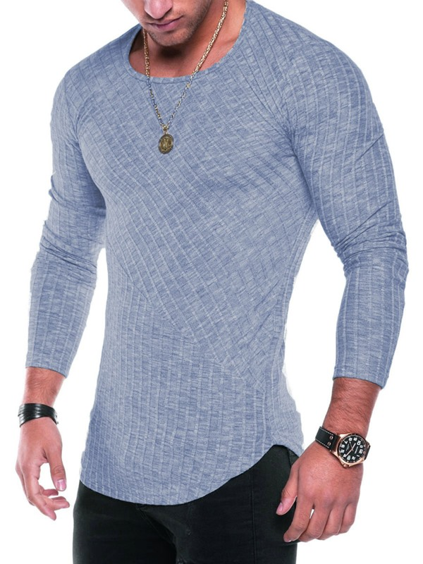 Tidebuy Multi Colors Scoop Slim Fit Men's T-Shirt