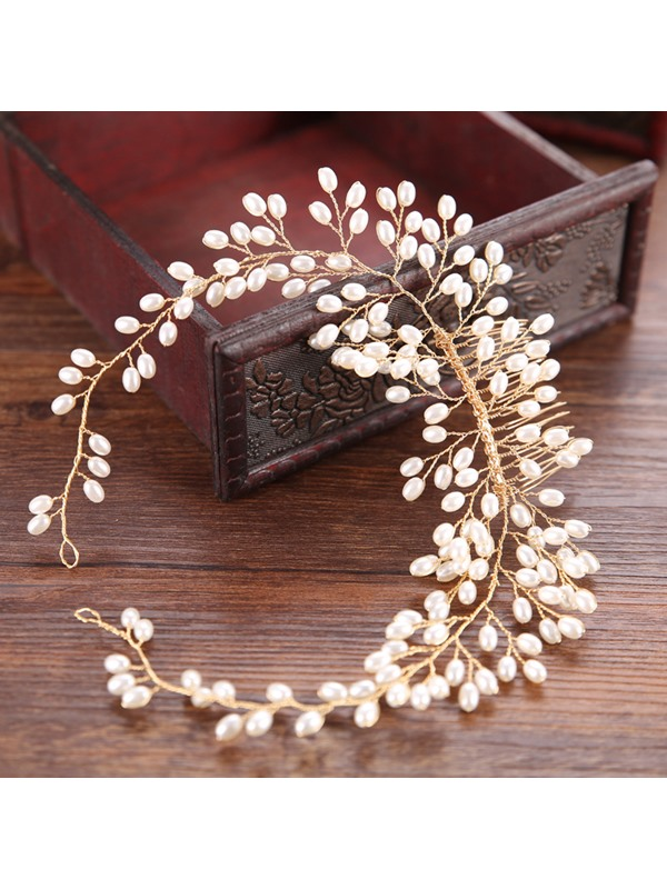 New Style Branch Shape Pearl Inlaid Wedding Hair Comb