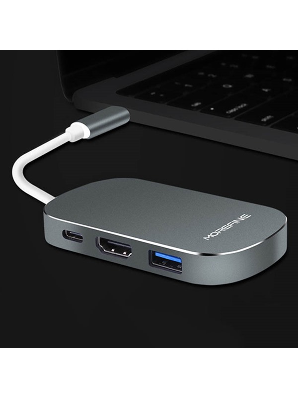 MOREFINE Portable Adapter with 5-port