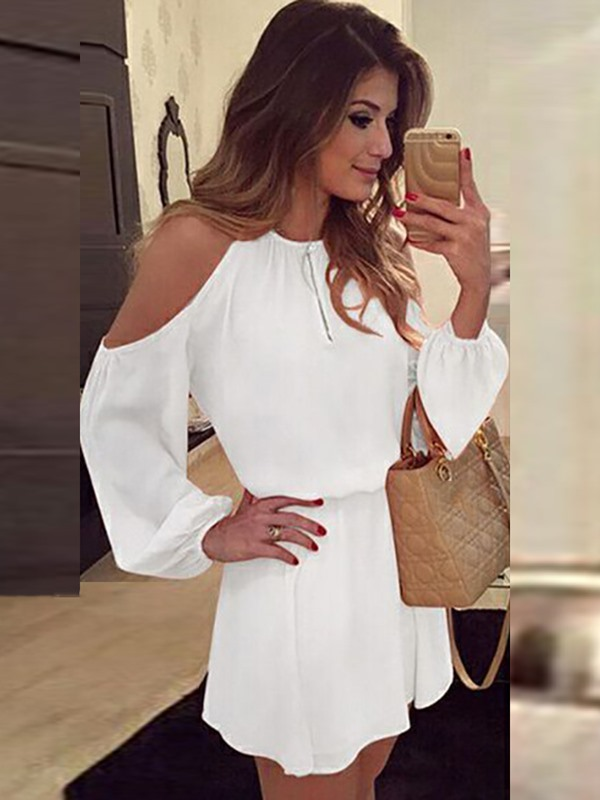 Tidebuy Long Open Sleeves Short Day Dress