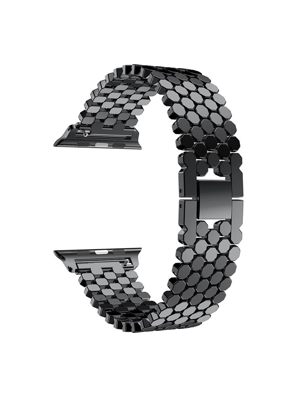Fashion Fish Scale Stainless Steel Strap,Chain Honeycomb Band for Apple watch 38/42mm Series1/2/3