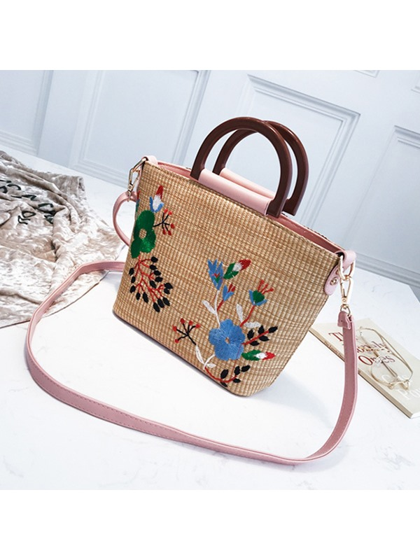 Embroidery National flavor Floral Tote Bag