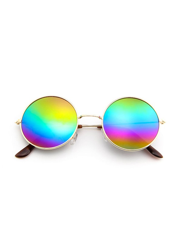 Hot Sale Orange-Colored Metal Round Sunglasses