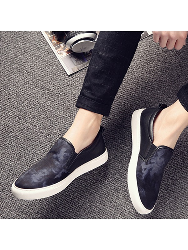 Cloth Round Toe Slip-On Men's Casual Shoes