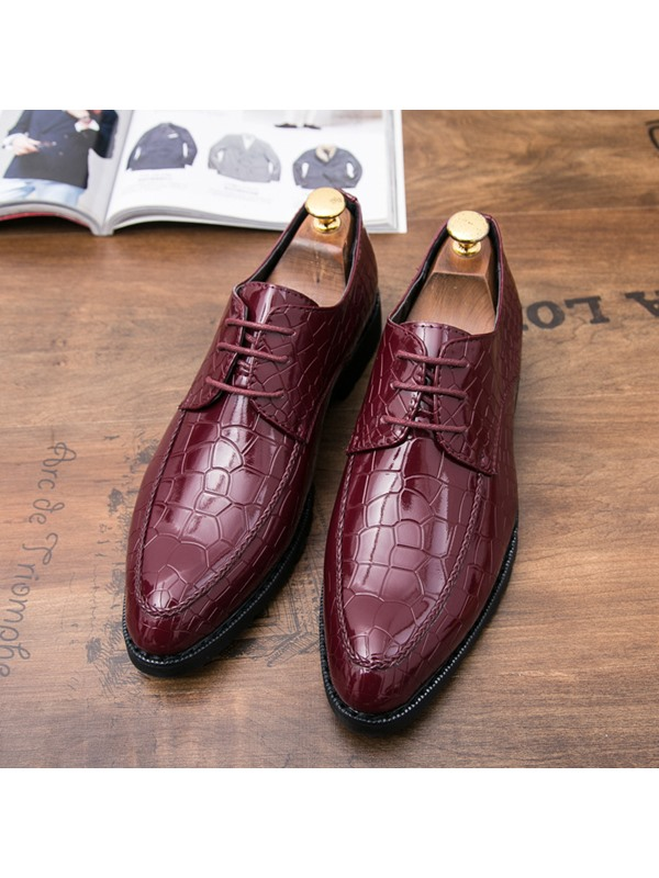Low-Cut Upper Lace-UP Men's Dress Shoes