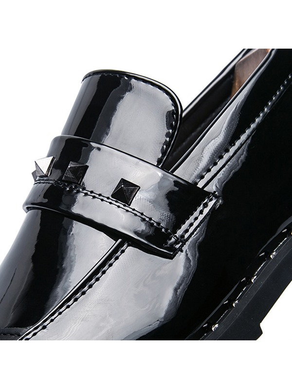 PU Rivets Low-Cut Upper Men's Dress Shoes
